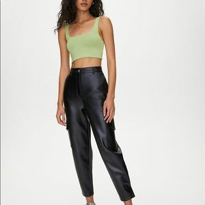 wilfred leather modern cargo pant